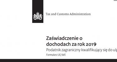inkomstenverklaring 2019