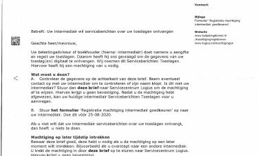 SBE Serviceberichten aanslag - elektroniczna decyzja podatkowa