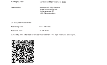 SBE Serviceberichten aanslag cyfrowa decyzja podatkowa